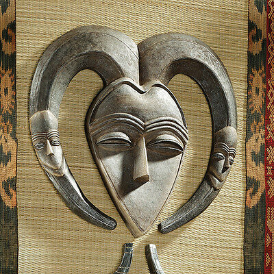 African Gabon Tribal  Art Wall Mask Exotic Sculpture