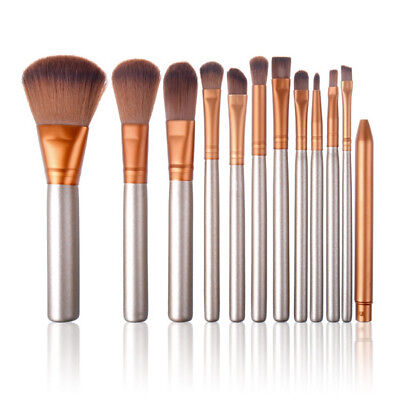 12pcs Pro Makeup Brushes Set Foundation Eyeshadow Powder Eyeliner Lip Brush Tool