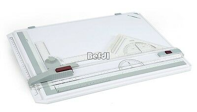 A3 Drawing Board Set Multi-Function W/ Parallel Motion + Set Square 19X14''