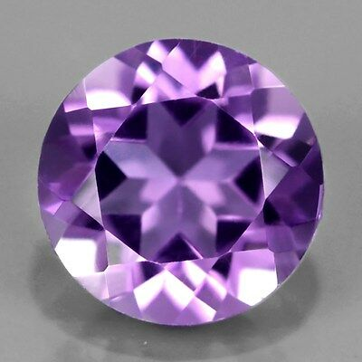 Only! $5.15/1pc 7mm Round Natural Unheated Purple Amethyst, Brazil