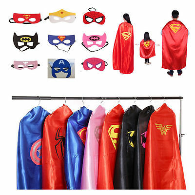 Superman Superhero Halloween Costume Adult Superhero Capes Blue and Red 140CM