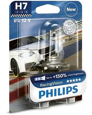 Philips Racing Vision H7 Halogenlampe Autolampe Lampe Glühlampe +150% 12972RVB1