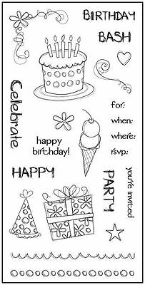 FISKARS Clear Stamps ***8247 BIRTHDAY PARTY***