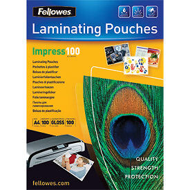 NEW! Fellowes 53511 A4 100Mic Pouch 100pk