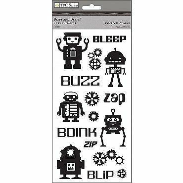 TPC STUDIO Clear Stamps ***2009515 BLIPS & BEEPS***