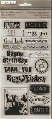 TPC STUDIO Clear Stamps ***93433 WHIMSY GREETINGS***