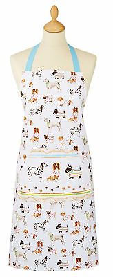 Cooksmart Best In Show Dog Design Apron Full Adult Bib Cotton Pocket Textile New