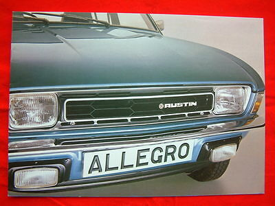 Vintage Austin Allegro Sales Brochure from October 1978- Amended RARE