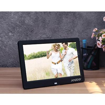 """10"""" Inch HD LED Digital Photo Frame Picture Alarm Clock Movie Player Remote C0S8"""