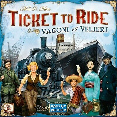 TICKET TO RIDE VAGONI & VELIERI Gioco da Tavolo Italiano Asterion - Asmodee