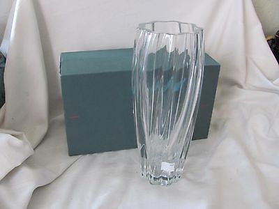 """Lenox Spiral Large Vase crystal glass with box 9.25"""" tall"""