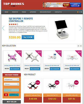 Drone Store - Fully Developed Affiliate Drone Website For Sale