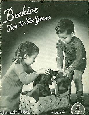 Vintage Beehive 2-6 Years Childrens Clothing Knitting Pattern Book