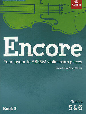 Encore Violin Book 3 Grades 5 & 6 Classical Sheet Music ABRSM Exam Pieces