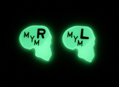 1 Set of Skull GLOW IN THE DARK X-ray Markers Imaging Xray Lead Film Radiology