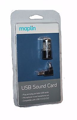 Maplin Audio Tube USB Sound Card for better Bass performance - RRP = £34.99