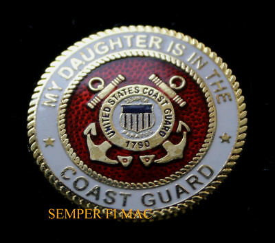 My Daughter Is In The Coast Guard Seal Lapel Hat Pin Up Gift Mom Dad Uscg L@@k