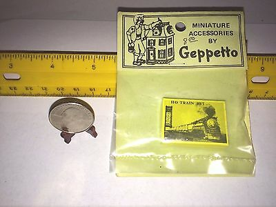 1/24 Miniature Ho Train Set Box Only For Your Dollhouse Or Room Box Nos