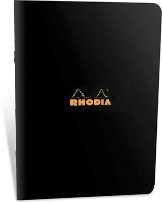 Rhodia Staplebound Notebook 6 x 8-1/4, Black Cover, Lined