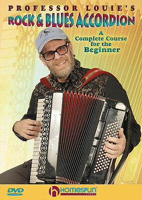 Professor Louie Rock Blues Accordion Beginner Lesson Learn to Play Video DVD NEW