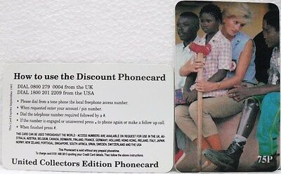 Fake/falso scheda telefonica - United collectors edition phonecard - 75 P
