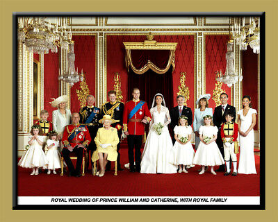Laminated Print Of The Royal Family