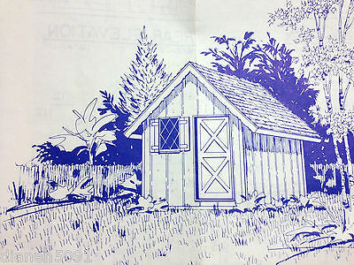 Storage Shed Or Playhouse Woodworking Pattern And Blueprint