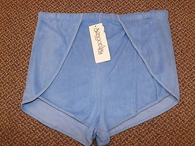 NOS Vtg 1970s SKY BLUE Vented Sides TERRY CLOTH SHORTS XL Sporty Athletic NEW