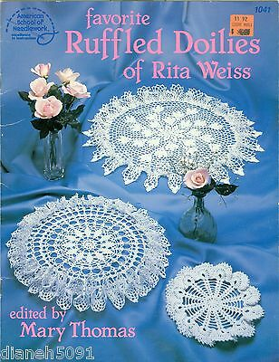 Ruffled Doilies Crochet Pattern Book 6 Doilie Patterns Rita Weiss Favorite
