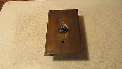 Antique Toggle Light Switch & Brass Plate