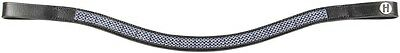 Harry's Horse RHA Black Leather Browband with Cobalt Blue Crystals - Full  Size