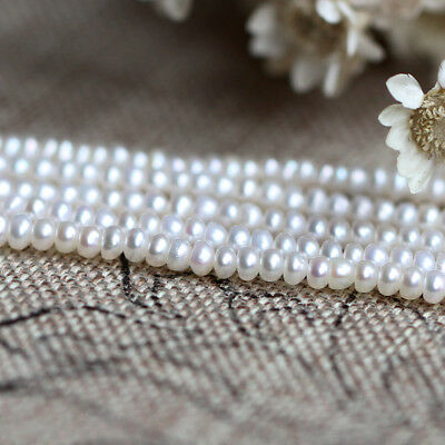 WHOLESALE!6-7mm Plump ROUND CREAM WHITE FRESHWATER PEARL BEADS 15''