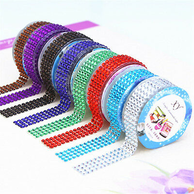 Bling Self-Adhesive Acrylic Rhinestones Stick On Scrapbooking Craft Sticker Tape
