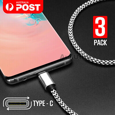 3x USB Type C Data Charger Sync Cable For Samsung S8 S9 S10 Note 10 Google Pixel