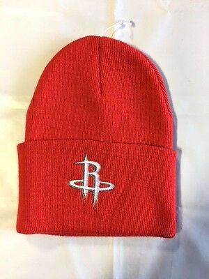 e662eb679 Houston Rockets Knit Beanie Toque Skull Cap Winter Hat NEW NBA - Cuffed Red