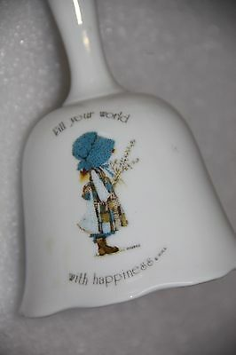 HOLLY HOBBIE GENUINE PORCELAIN JAPAN VINTAGE BELL original sticker inside