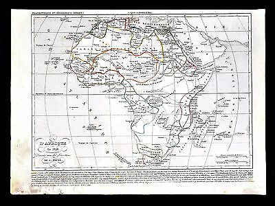 1849 Houze Map - Africa in 1846 - Guinea Congo Capeland South Egypt Nubia Sudan