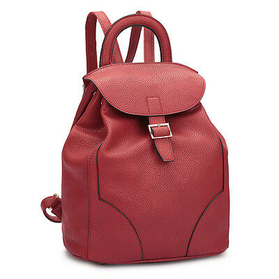 New Dasein Women Faux Leather Backpack Schoolbag Travel Girl Rucksack Bag Purse