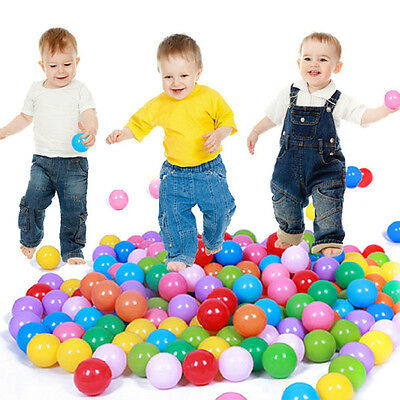 200pcs 70mm Secure Baby Kid Pit Toy Swim Fun Colorful Soft Plastic Ocean Ball