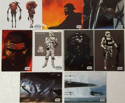 Star Wars FORCE AWAKENS SERIES 2 CONCEPT ART Card Set of 9 topps 2016