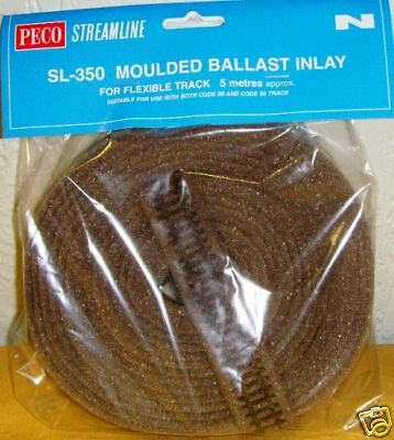 Peco N.SL-350 Moulded Ballast Inlay. (N Gauge) (Model Railways)