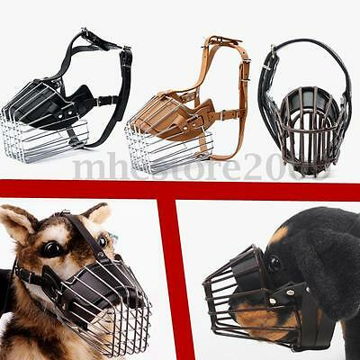 Adjustable Dog No Bite Bark Basket Muzzle Cage Mouth Chew Mesh Cover S/M/L/XXL