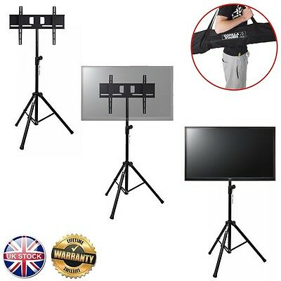 """Gorilla Portable Tripod TV Floor Stand inc Bracket for 37"""" to 51"""" LCD/LED Screen"""