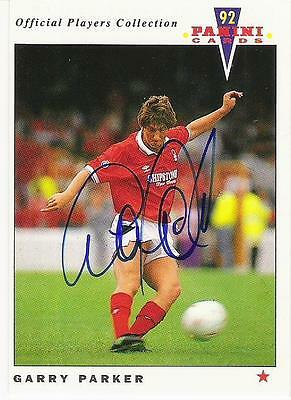 A Panini 92 card featuring & personally signed by Garry Parker Nottingham Forest