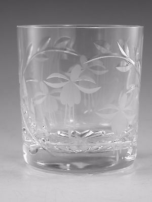"Royal BRIERLEY Crystal - FUCHSIA Variant - Tumbler Glass / Glasses - 3 3/8"" 2nd"