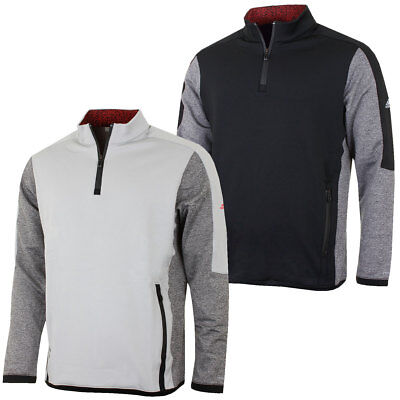 Adidas Golf Mens Climaheat Winter Pullover Half Zip Thermal Sweater 36% OFF RRP