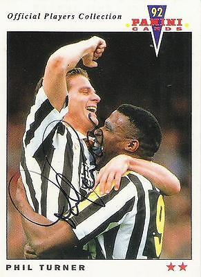 A Panini 92 card featuring & personally signed by Phil Turner of Notts County.