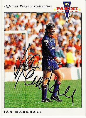 A Panini 92 card featuring & personally signed by Ian Marshall Oldham Athletic