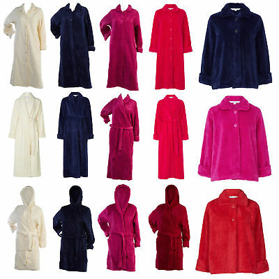Soft Waffle Fleece Bed Jacket or Dressing Gown Robe Ladies Slenderella Nightwear