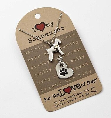 Schnauzer Necklace & Collar Charm Set 16 Inches